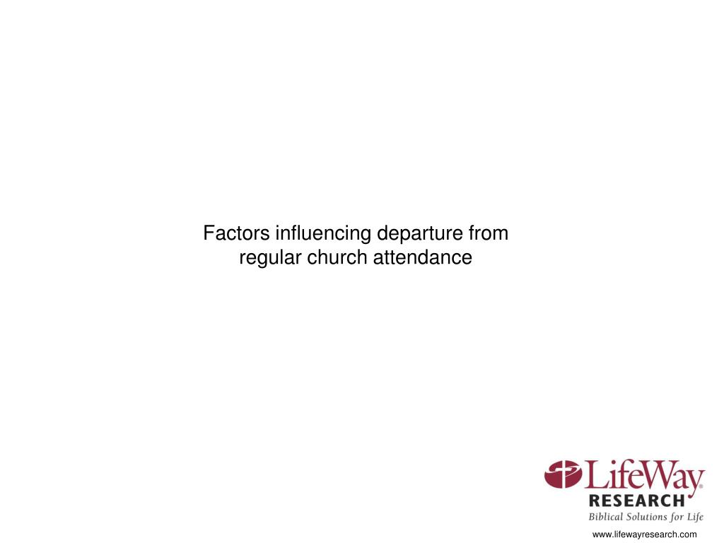 Factors influencing departure from