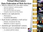 virtual observatory data federation of web services
