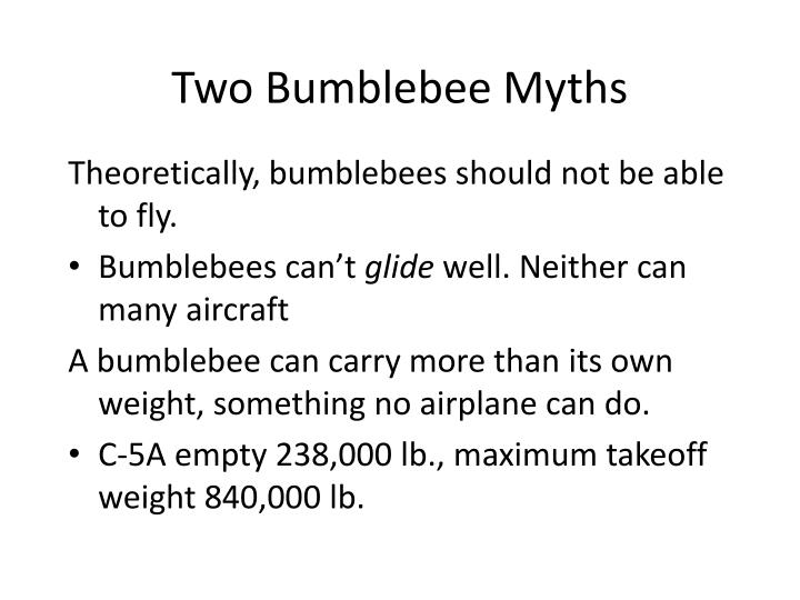 Two Bumblebee Myths