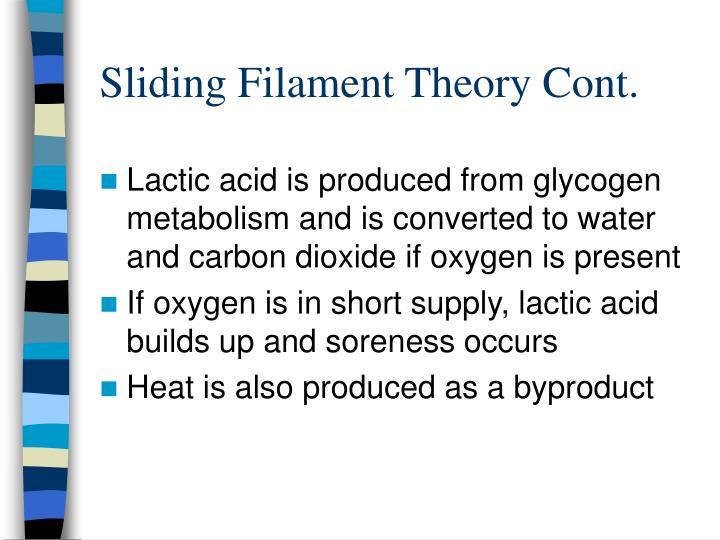 Sliding filament theory cont
