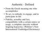 authentic defined