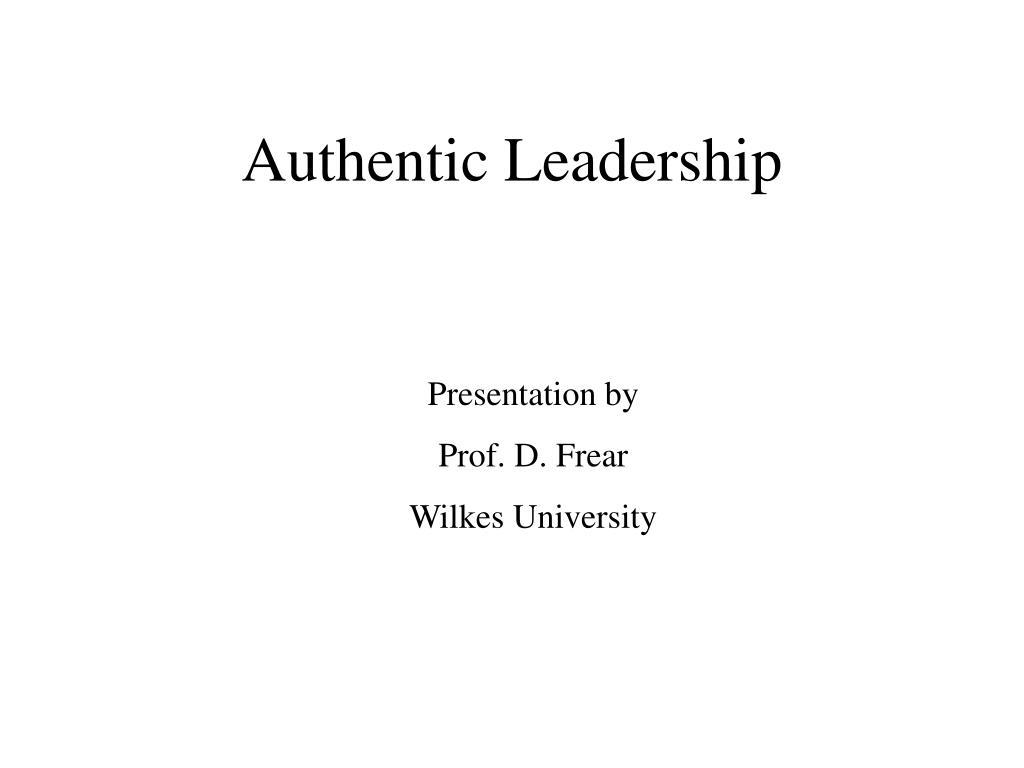 authentic leadership l.