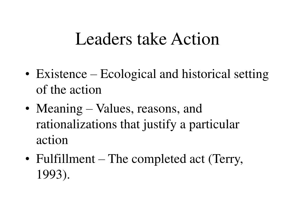 Leaders take Action