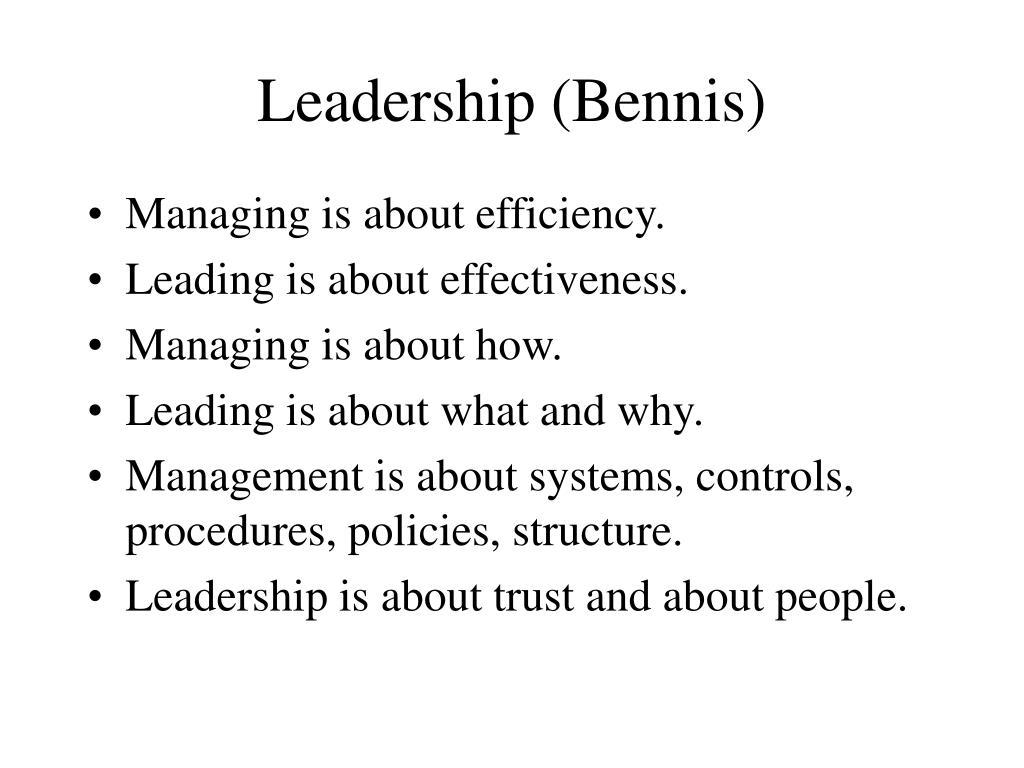 Leadership (Bennis)