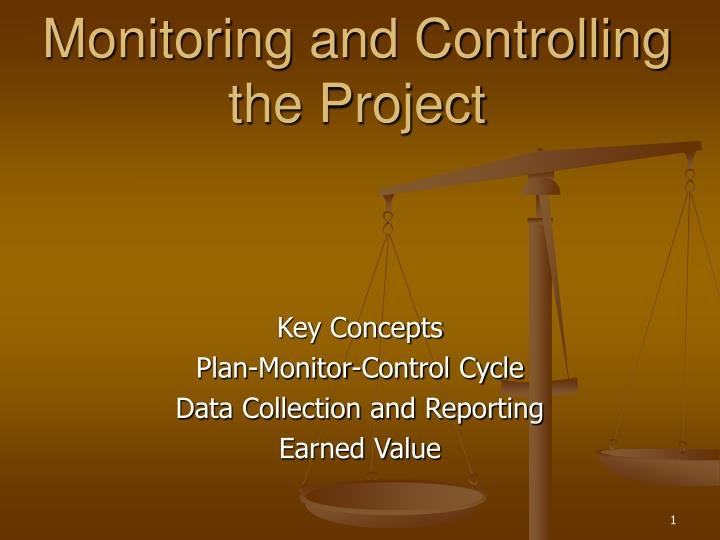 monitoring and controlling the project n.