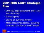 2001 hhs lgbt strategic plan