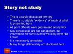story not study