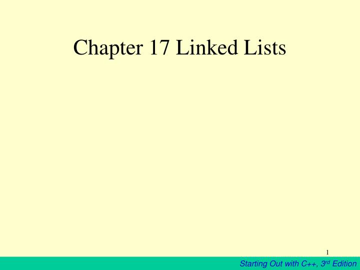 chapter 17 linked lists n.