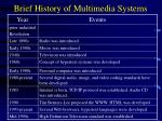 brief history of multimedia systems
