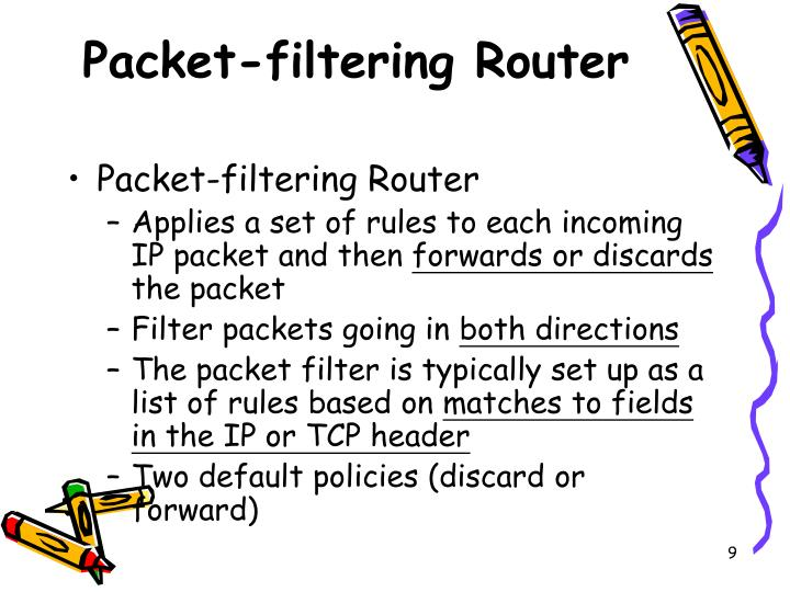Packet-filtering Router