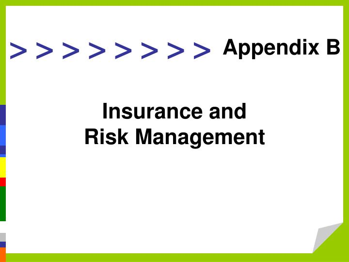 insurance and risk management n.