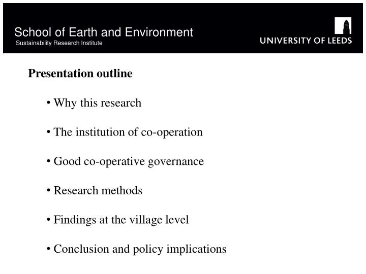 School of earth and environment sustainability research institute1