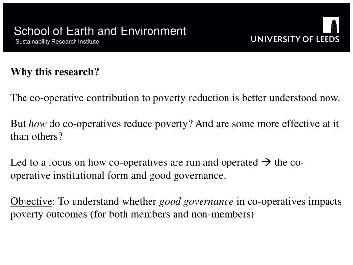 School of earth and environment sustainability research institute2
