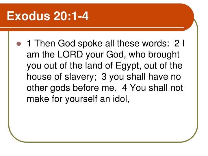 Exodus 20:1-4