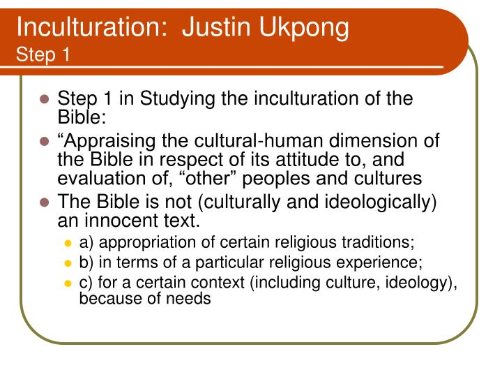 Inculturation:  Justin Ukpong