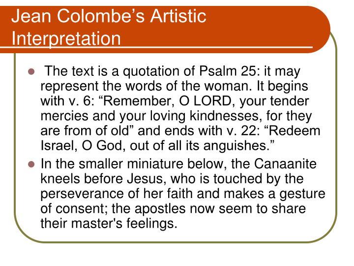 Jean Colombe's Artistic Interpretation