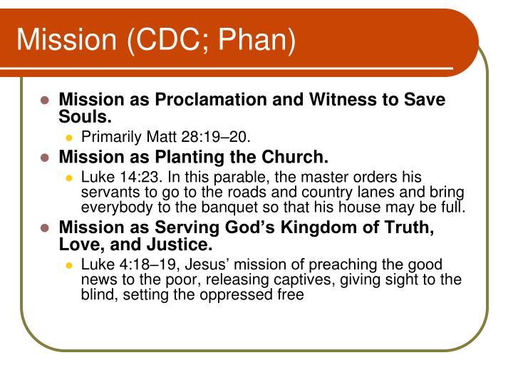 Mission (CDC; Phan)