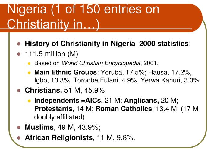 Nigeria (1 of 150 entries on Christianity in…)