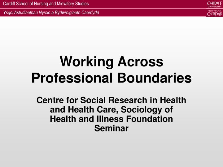 sociology and social care