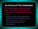 institutional discrimination