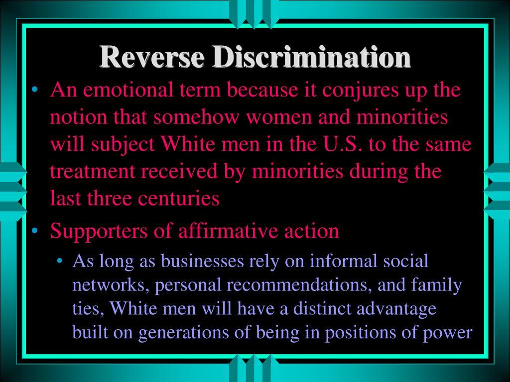 Reverse Discrimination