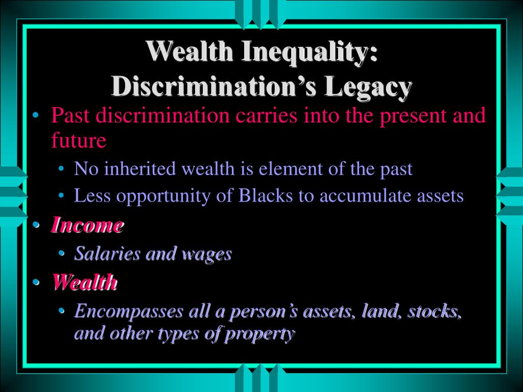 Wealth Inequality: Discrimination's Legacy