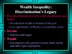 wealth inequality discrimination s legacy