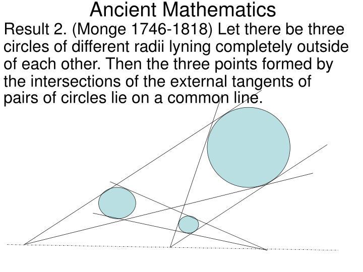 Ancient mathematics1