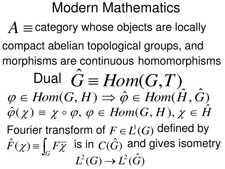 Modern Mathematics