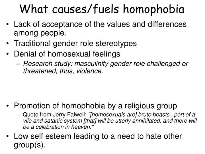 What causes/fuels homophobia