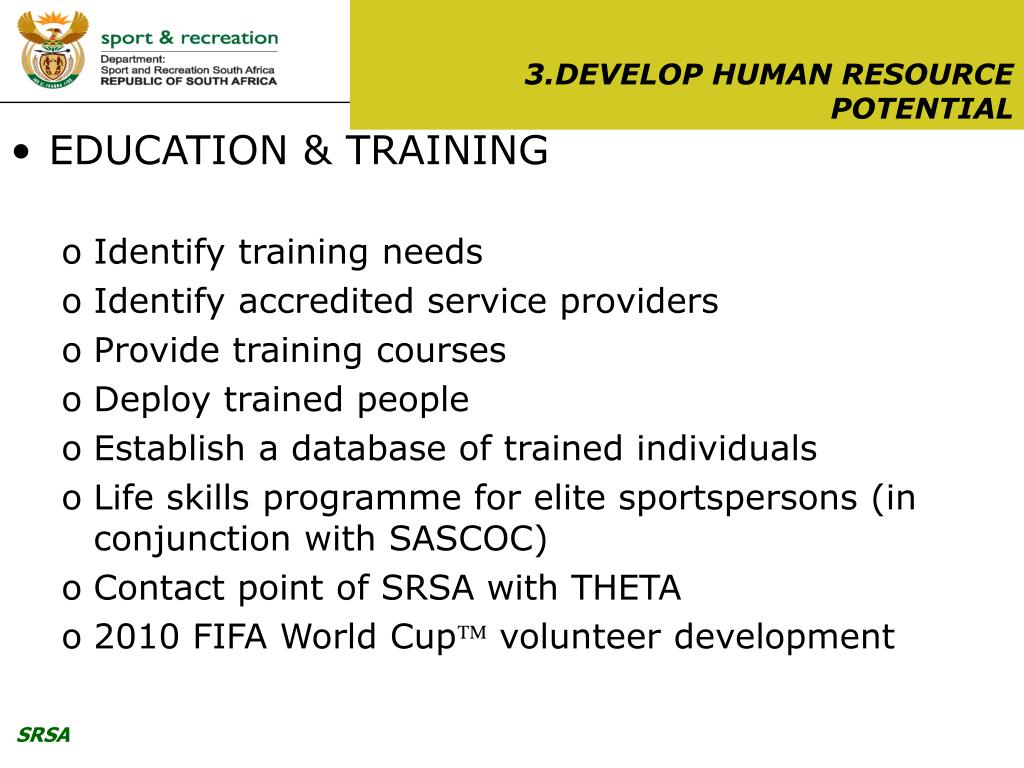 3.DEVELOP HUMAN RESOURCE POTENTIAL