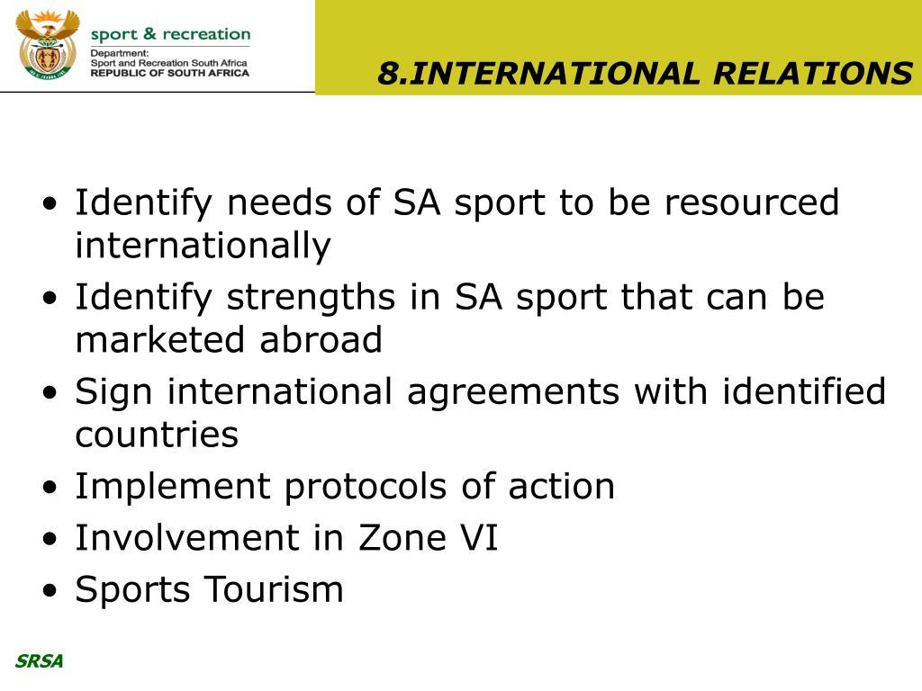 8.INTERNATIONAL RELATIONS