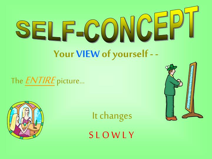 self concept and self esteem Self-concept and self-esteem susie steel of hearts real estate development had a tremendous amount of self-esteem and a positive self-concept she once told a.