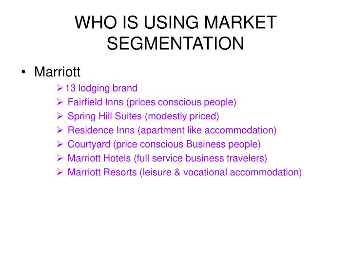 marriott market segmentation