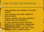 case studies and guidelines