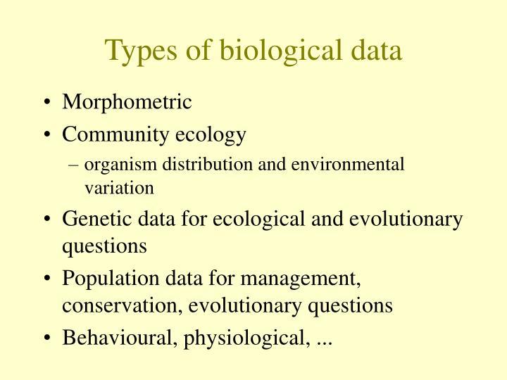 types of bio data