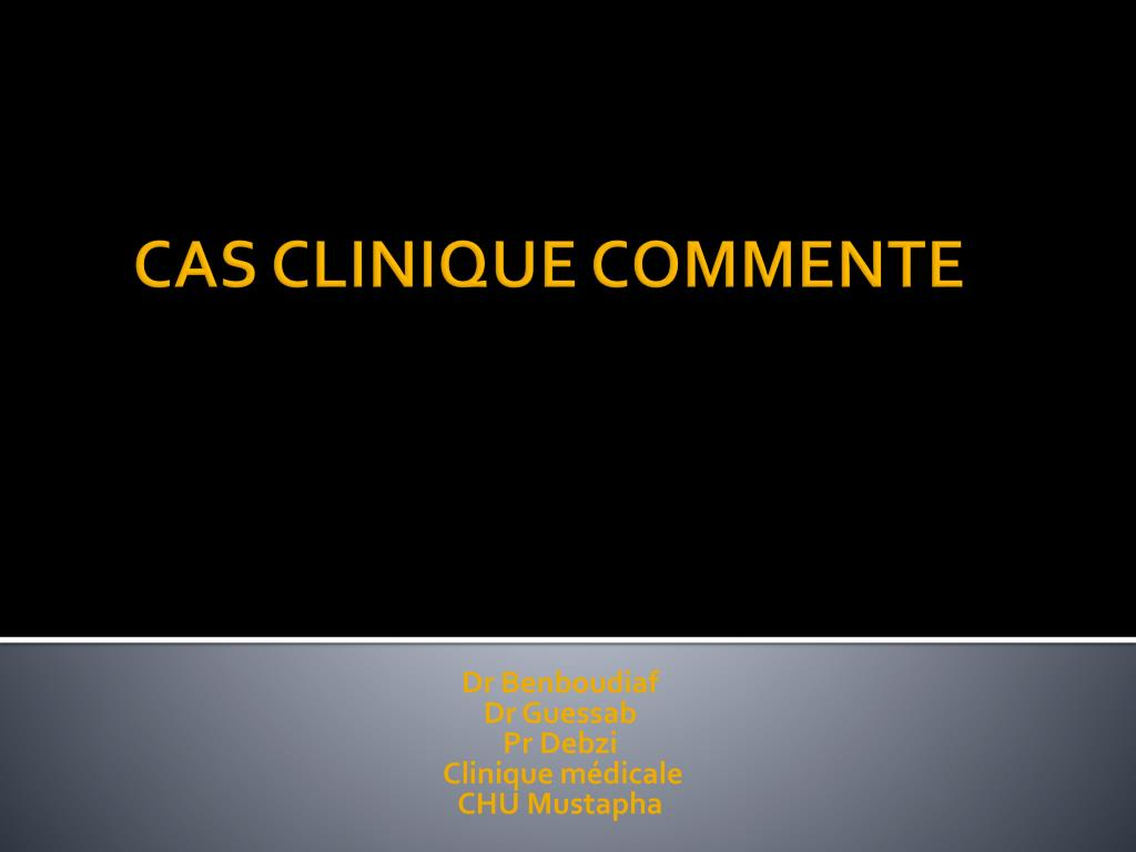 dr benboudiaf dr guessab pr debzi clinique m dicale chu mustapha l.