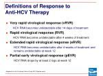 definitions of response to anti hcv therapy9