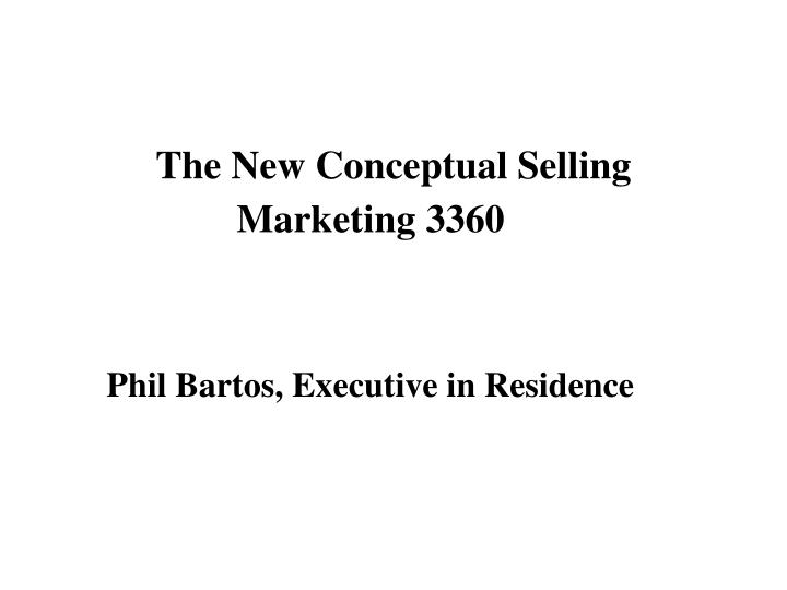 the new conceptual selling n.