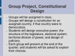group project constitutional design