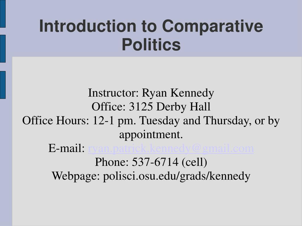 introduction to comparative politics l.