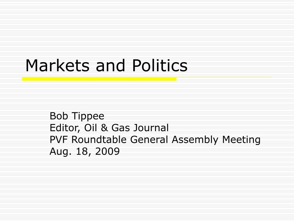markets and politics l.