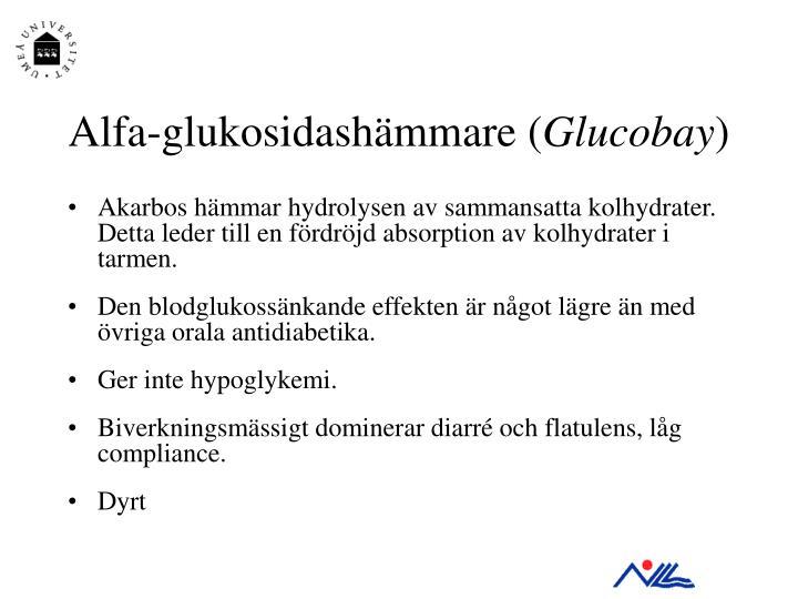 Alfa-glukosidashämmare (