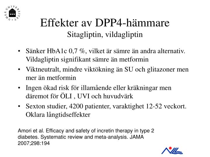 Effekter av DPP4-hämmare