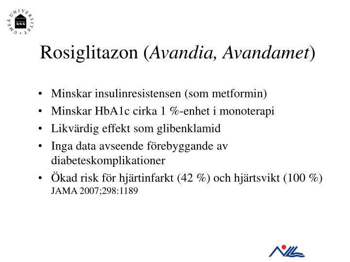 Rosiglitazon (