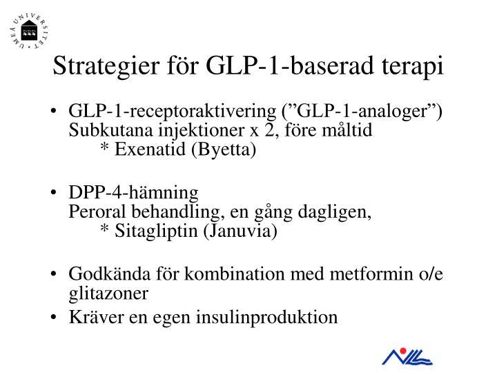 Strategier för GLP-1-baserad terapi