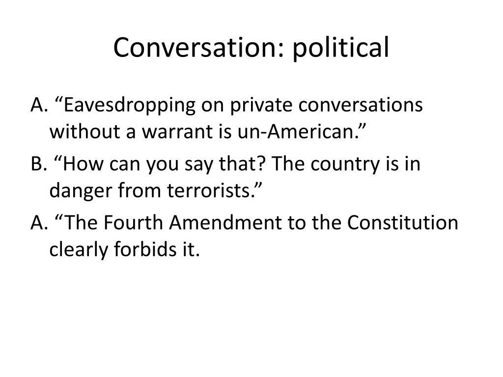 Conversation: political