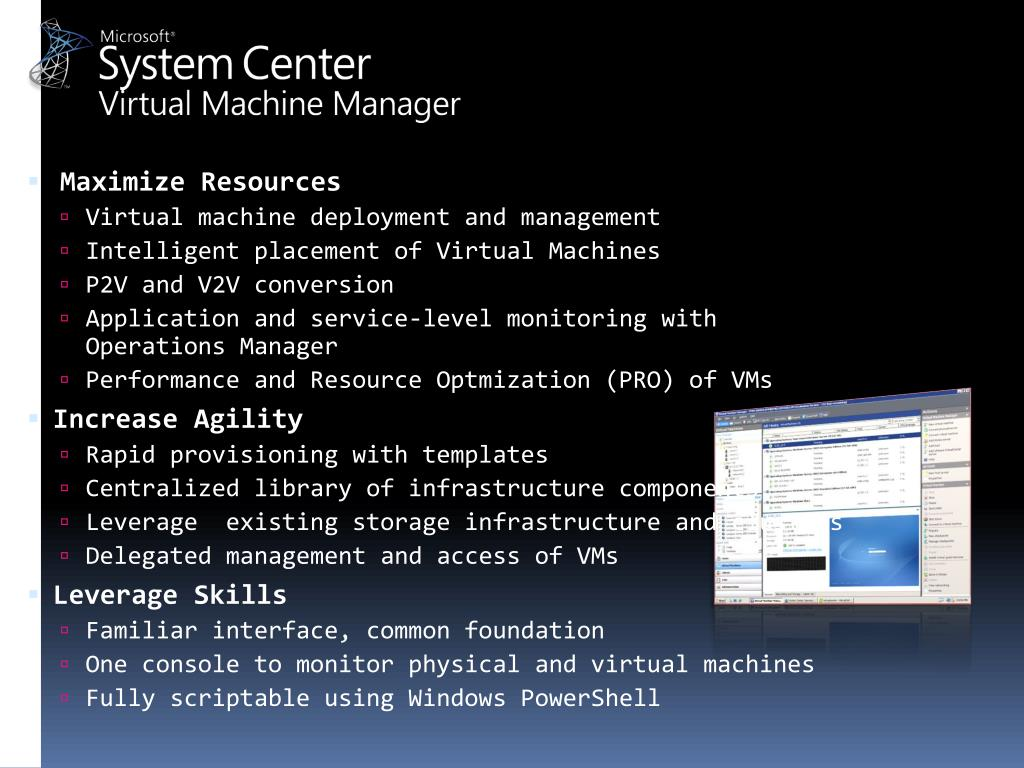 PPT - Microsoft System Center Virtual Machine Manager 2008