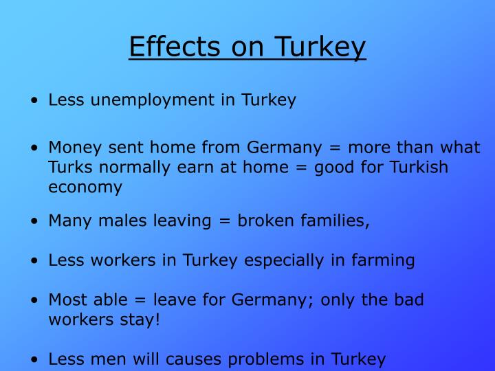 Effects on Turkey