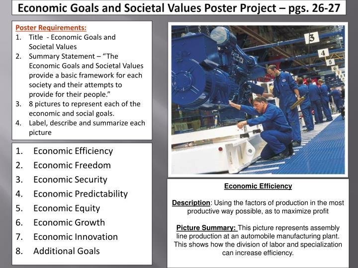Economic Goals and Societal Values Poster Project – pgs. 26-27